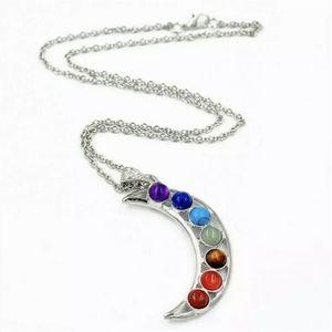 Jewelry - Rainbow moon - crescent necklace